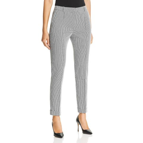BOSS Hugo Boss Womens Acrila Pants Textured Grid - Black/White - 14