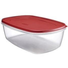 Rubbermaid 1777164 Food Storage Container, 40 Cup, Clear Base