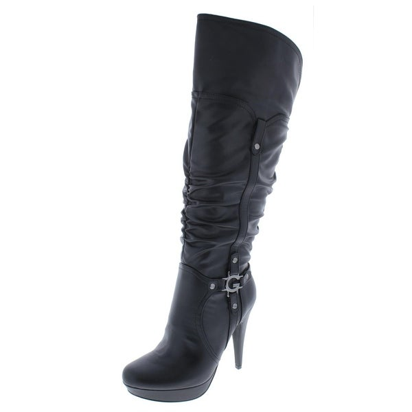 7ec5bf0d1a7 Shop G by Guess Womens Knee-High Boots Faux Leather Heel - 8 medium ...