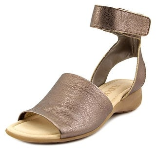 The Flexx Be Glad Women Open Toe Leather Gold Gladiator Sandal