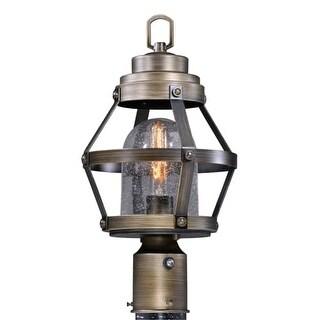 """Vaxcel Lighting T0341 Bruges Single Light 9"""" Wide Landscape Single Head Post Lig"""