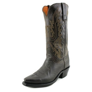 Lucchese Cole Men  Square Toe Leather  Western Boot