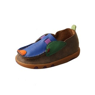 Twisted X Casual Shoes Boys Mocs Leather Slip On Bomber Blue