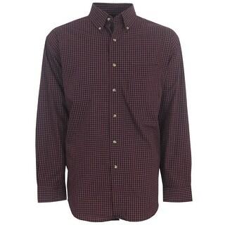 Antigua Esteem Box Pattern Long-Sleeve Men's Oxford Style Shirt, Brand NEW