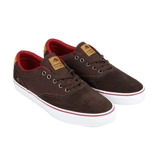 Emerica Provost Slim Vulc Mens Brown Suede Lace Up Sneakers Shoes