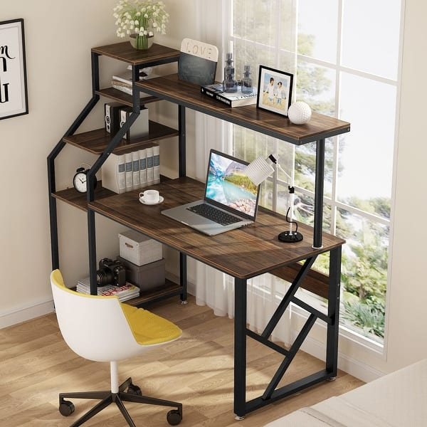 Computer Desk With 4 Tier Storage