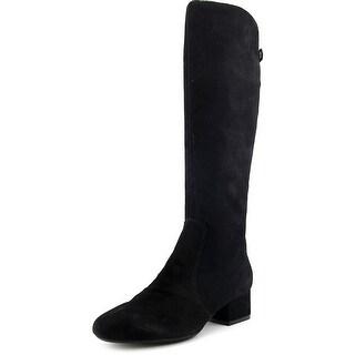 Anne Klein Camden Women  Round Toe Suede Black Knee High Boot