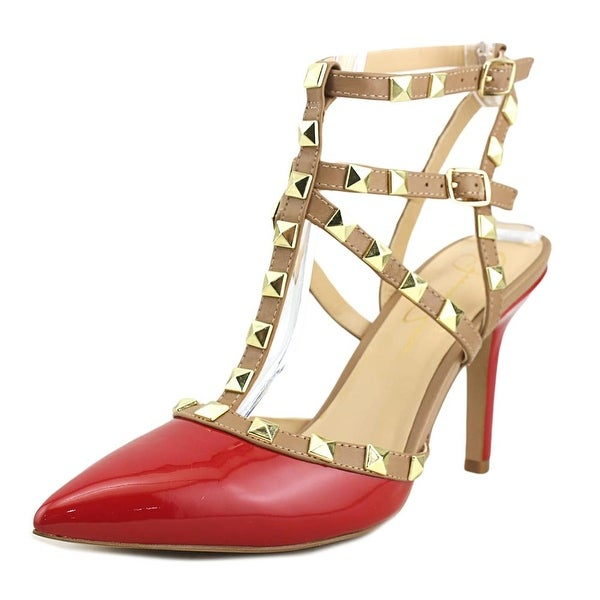 dd0951305322 Shop Jessica Simpson Dameera Women Pointed Toe Leather Red Slingback ...