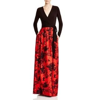 Diane Von Furstenberg Womens Kailey Evening Dress Printed Wrap - 2