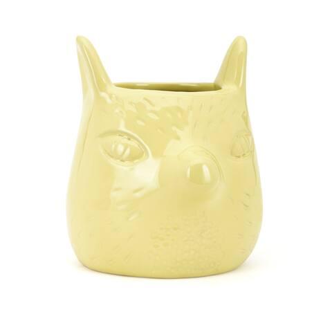 """IMAX Home 60521 Uma 4 1/2"""" Wide Ceramic Pot - Yellow"""