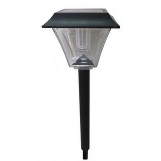 Benzara BM148466 Plastic Solar Pathway High Lumens Light, Black