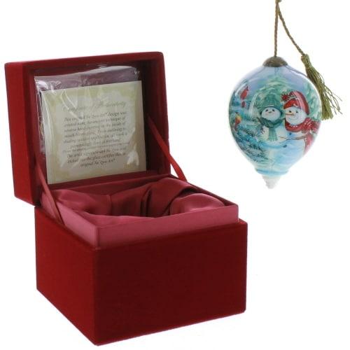 "Ne'Qwa Art, Christmas Gifts, ""A Mother's Love"" Artist Dona Gelsinger, Petite Princess-Shaped Glass Ornament, #7161110"