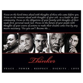 ''Thinker (Quintet): Peace, Power, Respect, Dignity, Love'' by Anon African American Art Print (8 x 10 in.)