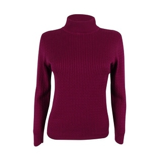 Karen Scott Women's Long Sleeve Mock Turtleneck Sweater - petite