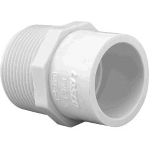Charlotte Pipe & Found PVC 02110 1600 Sch 40 Pvc Adapter Mpt X S 2 X 1-1/2 White