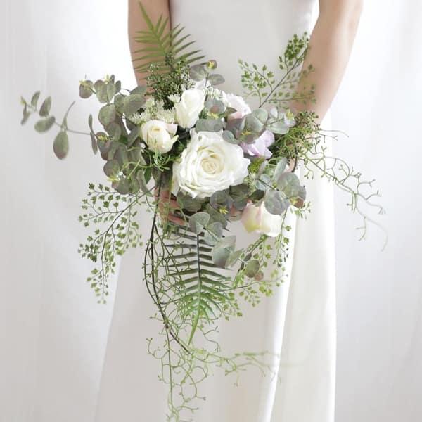 Shop Wedding Bouquet The Chic Bridal Bouquet Green White