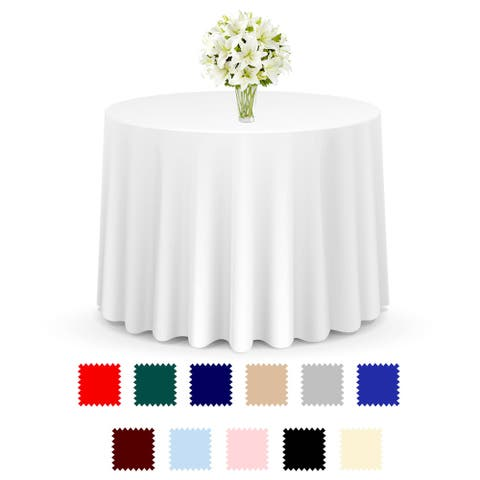 20-Pack Premium Round Polyester Tablecloths by Lann's Linens