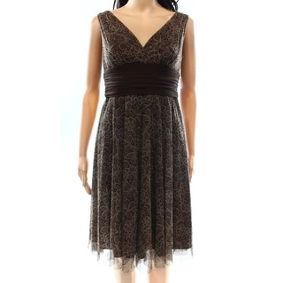 London Times NEW Brown Women's Size 6P Petite Empire Waist Dress