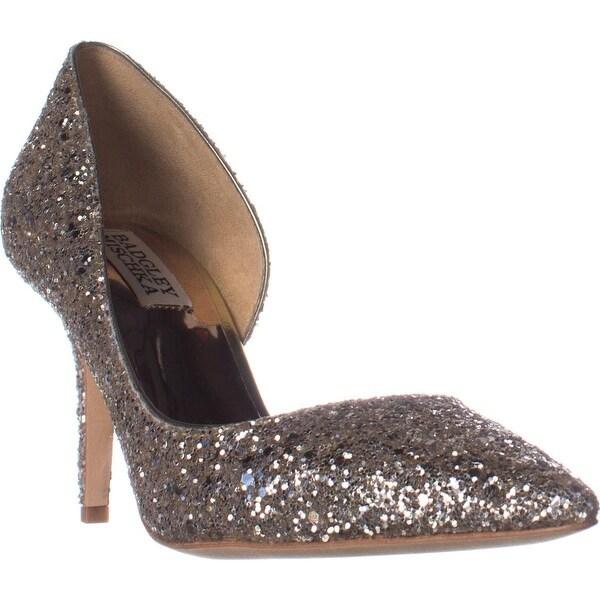 Badgley Mischka Daisy D'Orsay Pumps, Platino Glitter
