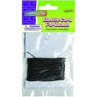 (3 Ea) Black Elastic Cord