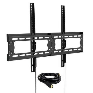 Loctek F7M Low Profile Fixed TV Wall Mount Bracket with VESA patterns up to 600 x 400 and max.165lbs for 32-65 inch TV