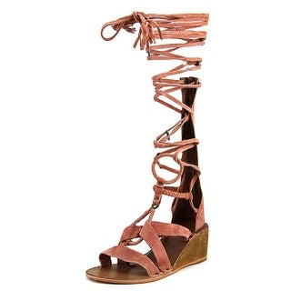 Free People Saltarello Women Open Toe Suede Pink Gladiator Sandal
