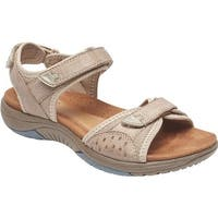 Rockport Women's Franklin Three Strap Sport Sandal Sand Leather