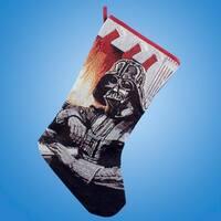 "Pack of 6 Star Wars Darth Vader Tapestry Christmas Stockings 19"" - black"