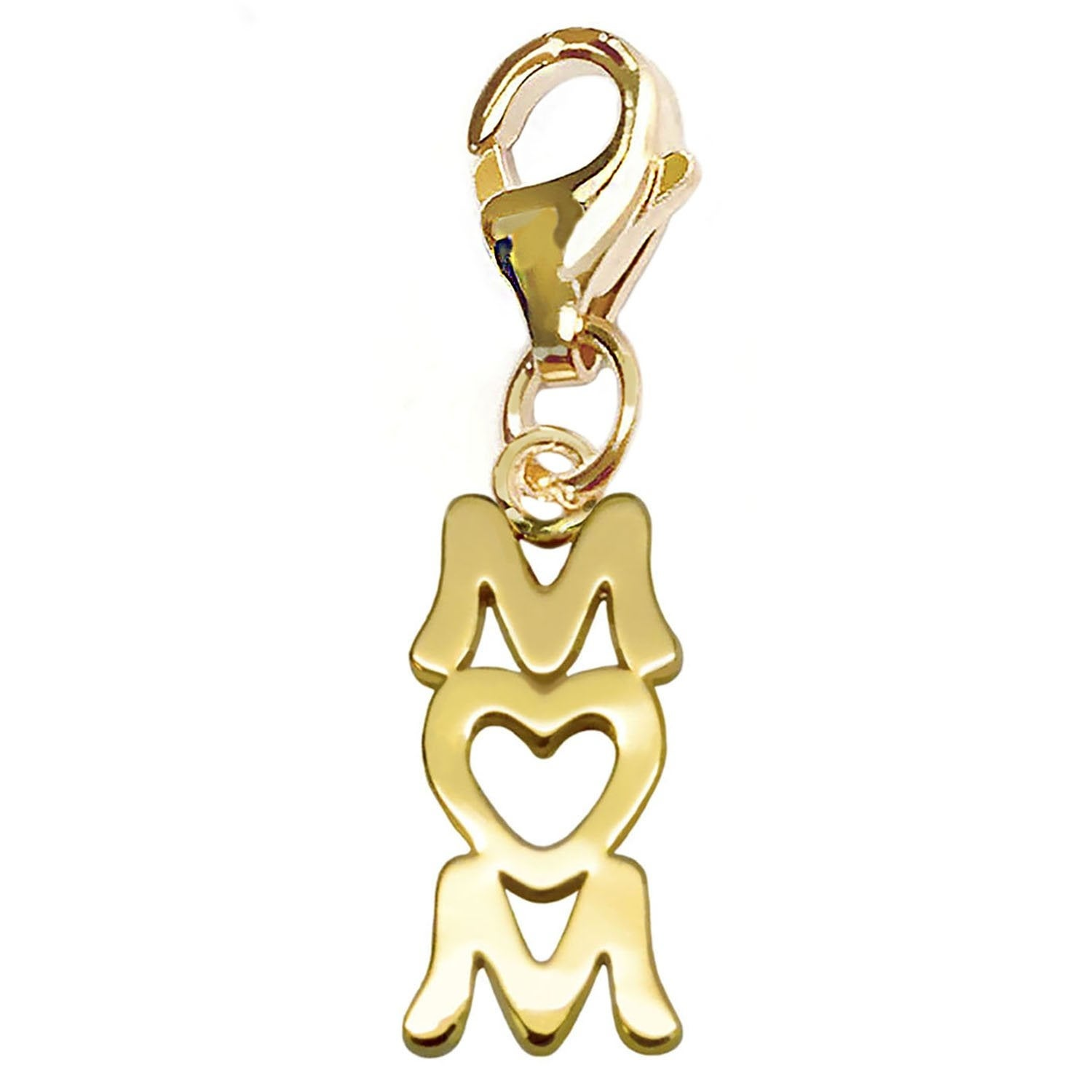 Julieta Jewelry 'Mom' With Heart Handwriting Clip-On Charm - Thumbnail 0