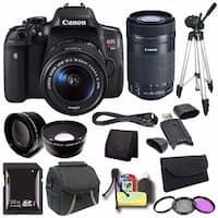 Canon EOS Rebel T6i DSLR Camera with EF-S 18-55mm f/3.5-5.6 IS STM Lens 0591C003 + EF-S 55-250mm F4-5.6 Lens + Case Saver Bundle