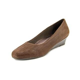 Trotters Lauren N/S Open Toe Leather Wedge Heel