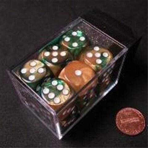Manufacturing 26625 D6 Cube Gemini Set Of 12 Dice, 16 mm - Gold