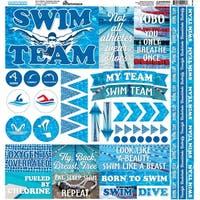 "Swim Team Elements Stickers 12""X12""-"