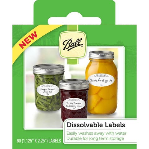 Ball 1440010734 Dissolvable Canning Labels, 60 Pieces Per Box
