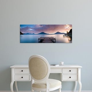 Easy Art Prints Panoramic Images's 'Jetty, Lake Atitlan, Santa Cruz La Laguna, Western Highlands, Guatemala' Canvas Art