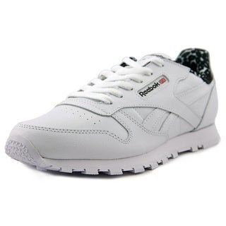 Reebok Classic Leather Animal Round Toe Leather Tennis Shoe
