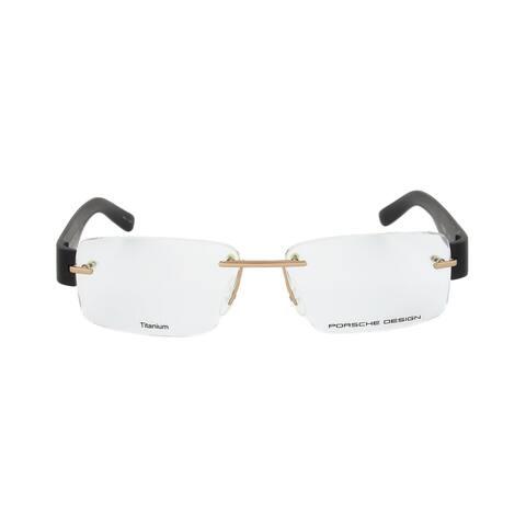 Porsche Design P8206 A Rimless Gold/Black Eyeglass Frames