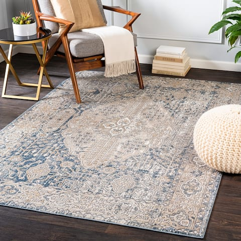 Fannie Traditional Tree of Life Area Rug