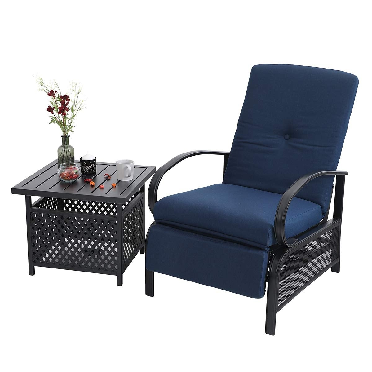Picture of: Shop Black Friday Deals On Havenside Home Claribelle 2 Piece Adjustable Recliner Chair And Side Table Set Overstock 28895252 Green