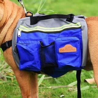 Dog Backpack Bag Pet Carrier Holder for Outdoor Hiking Camping Walking (Blue)