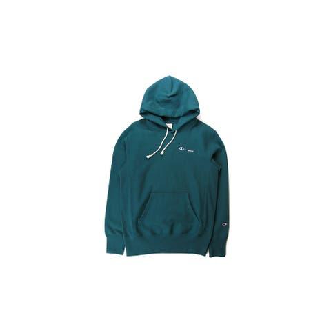 Champion Reverse Weave Small Script Hoodie (Jeweled Jade) - XL