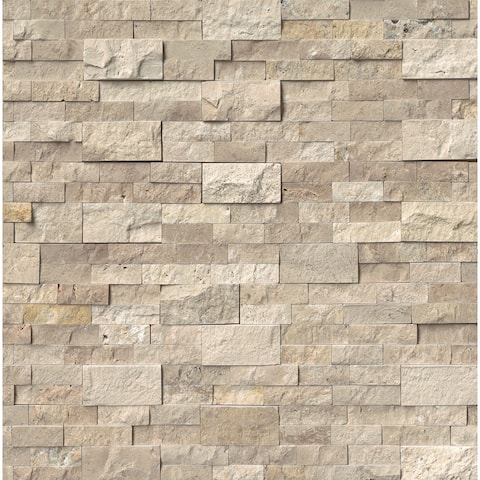 "MSI LPNLTROMBEI624 24"" x 6"" Rectangle Wall Tile - Textured Travertine Visual - Sold by Carton (6 SF/Carton) - SplitFace"