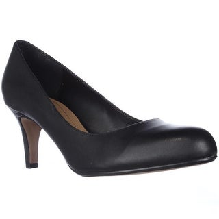 Clarks Arista Abe Comfort Dress Pumps, Black Leather