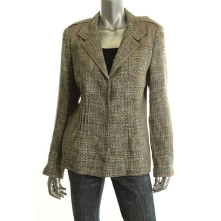 Elie Tahari Womens Adora Textured Long Sleeves Blazer - 6