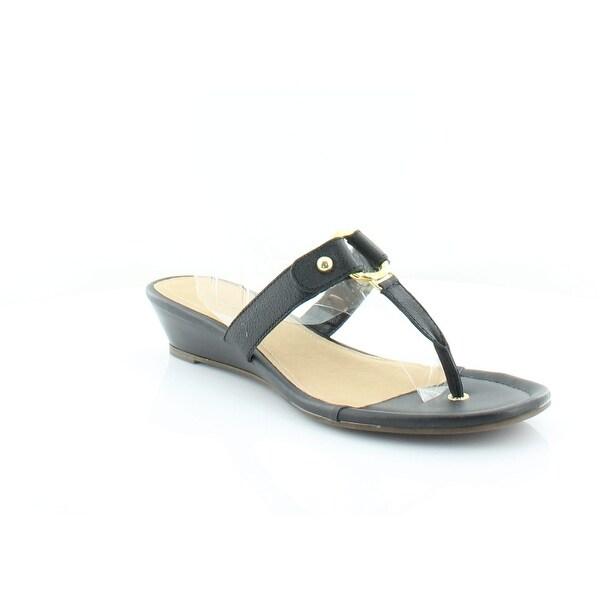 Sperry Top-Sider Ash Wedge Thong Women's Sandals & Flip Flops Ash Black - 12
