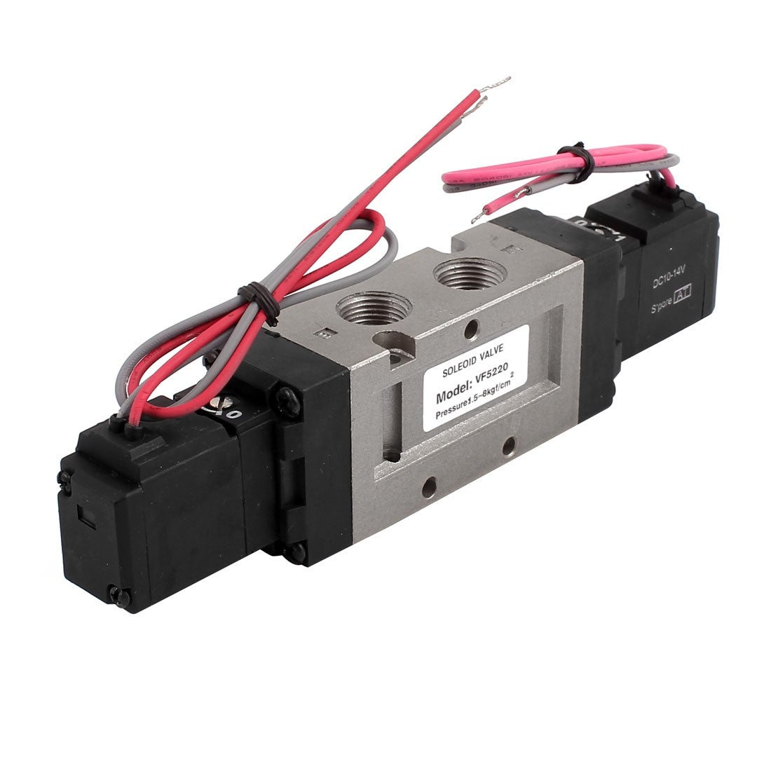 shop dc 12v 2 position 5 way 4 wires pneumatic solenoid valve vf5220-6gb -  free shipping on orders over $45 - overstock - 23103539