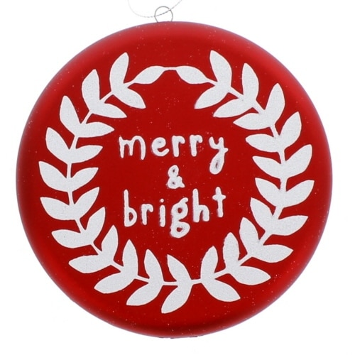 Merry and Bright Disc Ornament