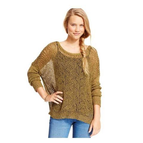 Jessica Simpson Women Eder Marled Open-Knit Crochet Sweater