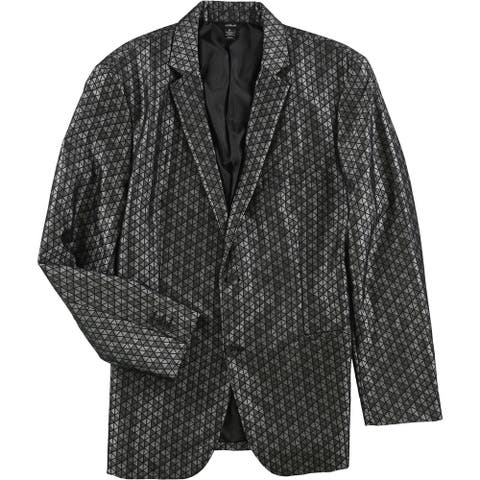 Alfani Mens Jacquard Two Button Blazer Jacket