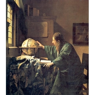 Easy Art Prints Johannes Vermeer's 'The Astronomer' Premium Canvas Art